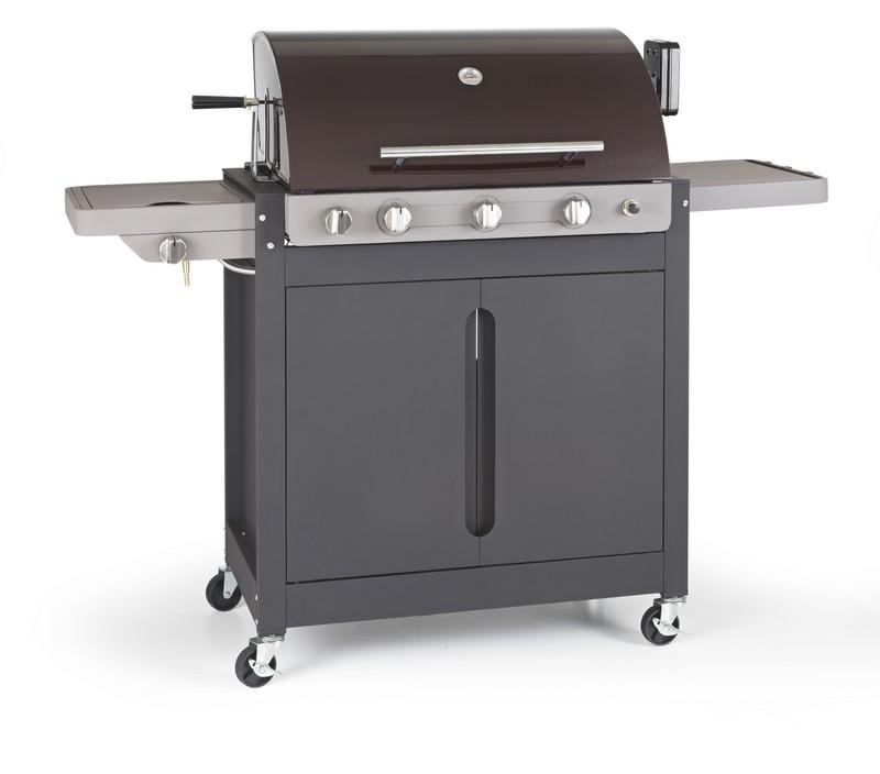 Barbecue gaz 4 feux r chaud lat ral barbecook brahma 5 2 ceram - Barbecue gaz rotissoire ...