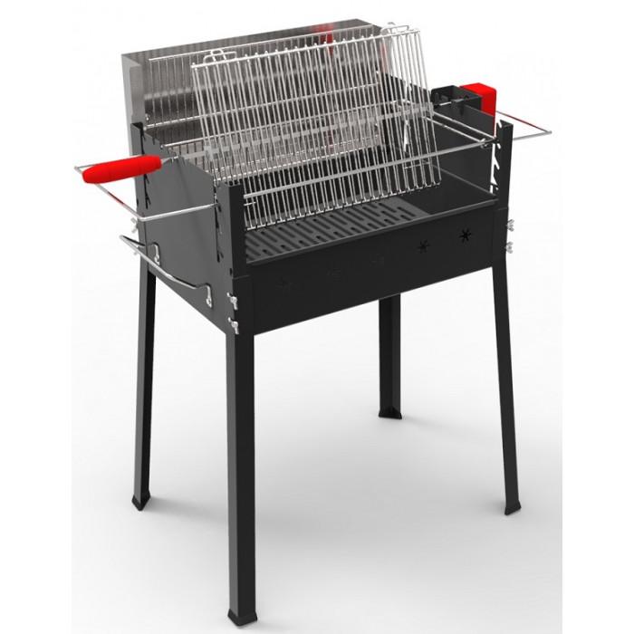 barbecue charbon de bois cuisson verticale ou horizontale. Black Bedroom Furniture Sets. Home Design Ideas