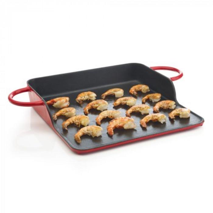 plaque en fonte pour utiliser votre barbecue charbon comme plancha