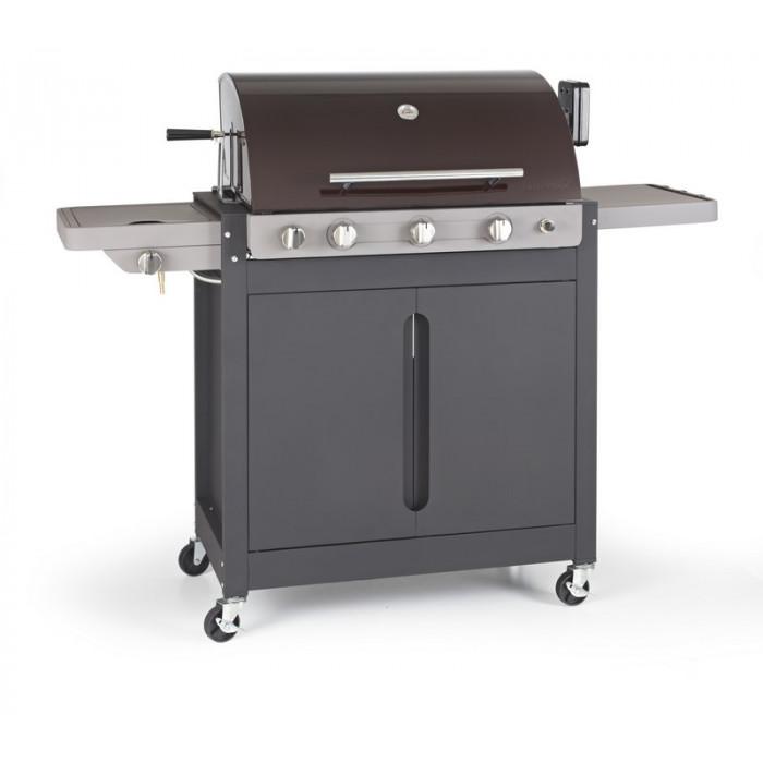 barbecue gaz 4 feux rotissoire. Black Bedroom Furniture Sets. Home Design Ideas