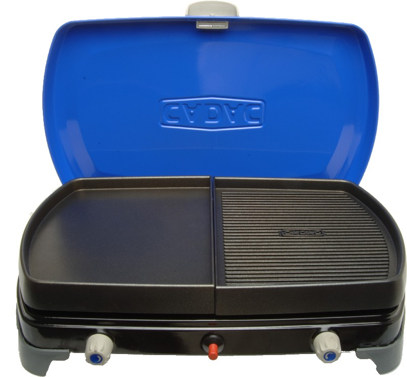 R chaud avec plaque de cuisson cadac cook deluxe - Plaque plancha pour barbecue gaz ...