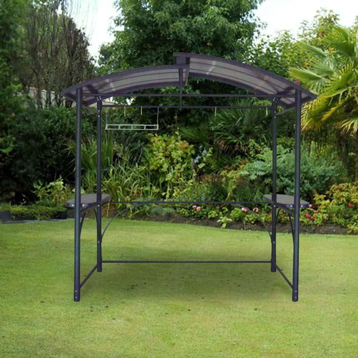 Abri barbecue DCB Garden 2,40X1,5m aluminium polycarbonate