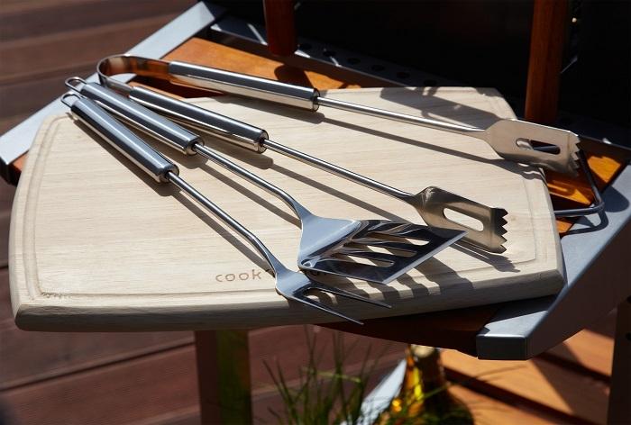 set en inox 3 ustensiles cookin garden