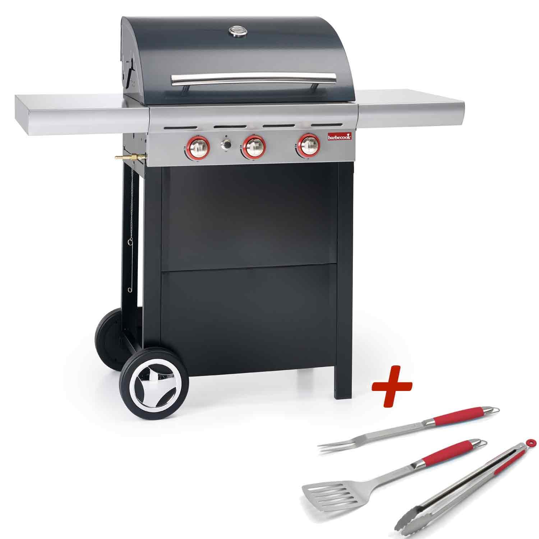 barbecue gaz 3 feux barbecook spring 300 raviday barbecue. Black Bedroom Furniture Sets. Home Design Ideas