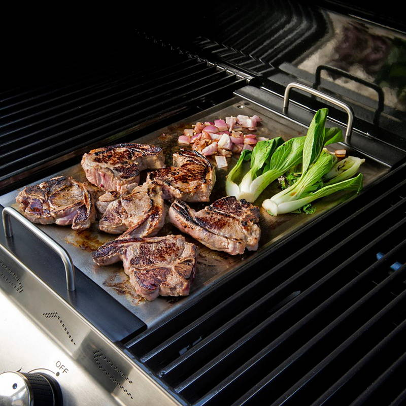 Cuisiner sur un barbecue à gaz