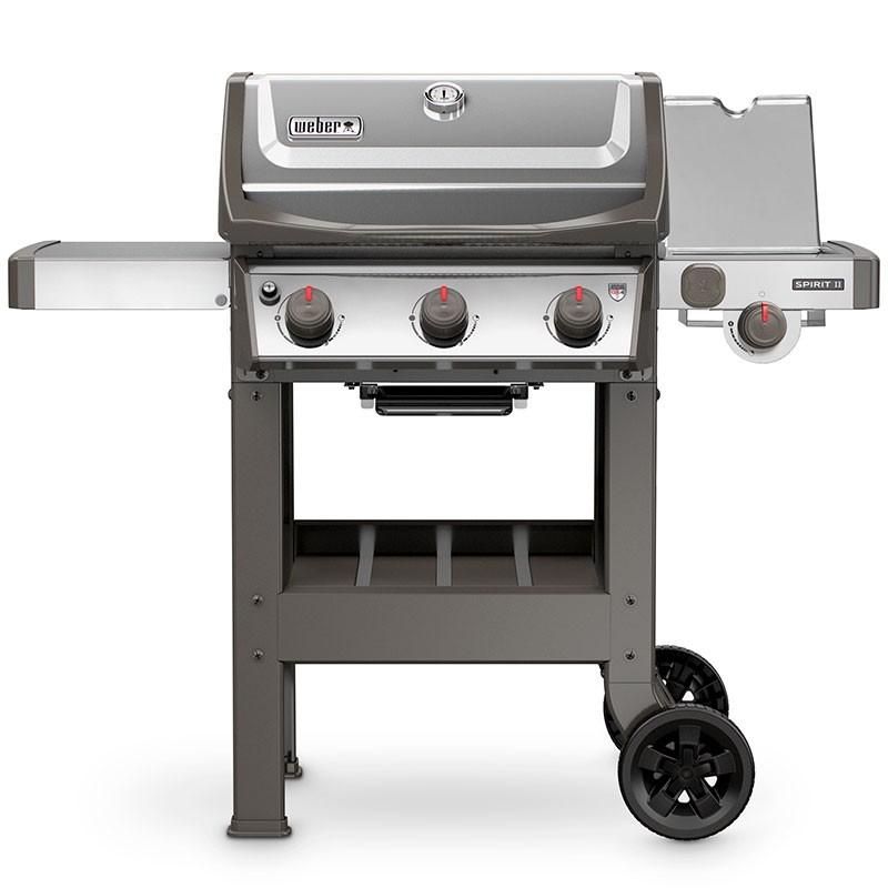 Le Barbecue à gaz Weber Spirit 2 S-320 GBS Inox est équipé d'un réchaud latéral