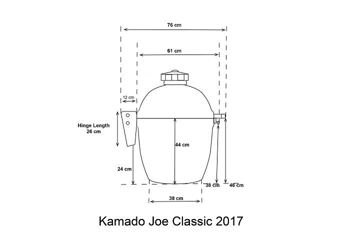 kamado joe classic dimensions