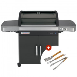 Barbecue gaz Campingaz 3 Series RBS LD Vario - grille Culinary + plancha fonte