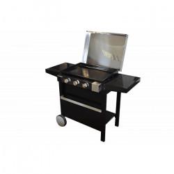 Plancha à gaz 2 brûleurs sur chariot Cook'In Garden 2B FINESTA 63