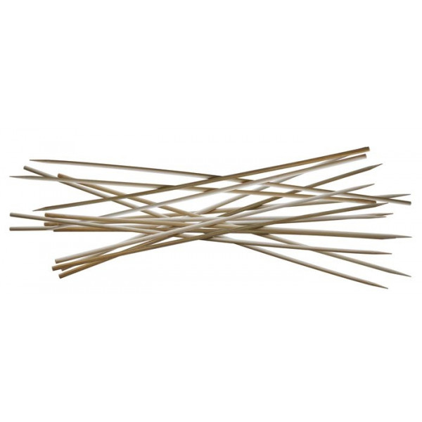 Lot de 100 pics à brochette 30 cm en bambou - Cook'in Garden