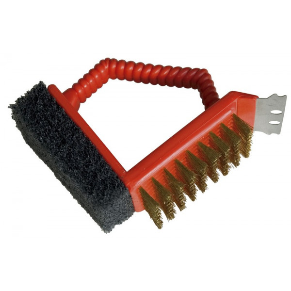 Brosse pour barbecue 3 en 1 Barbecook