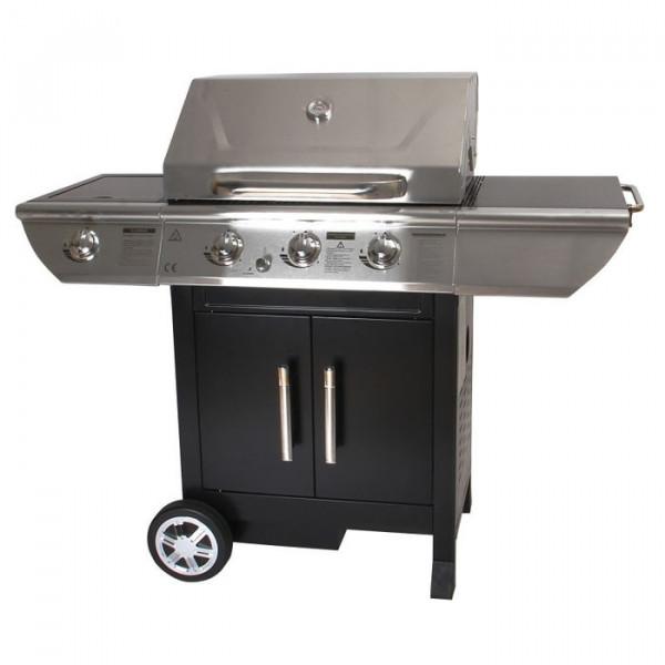 Barbecue à gaz 3 brûleurs + réchaud latéral Somagic BALTIMORE