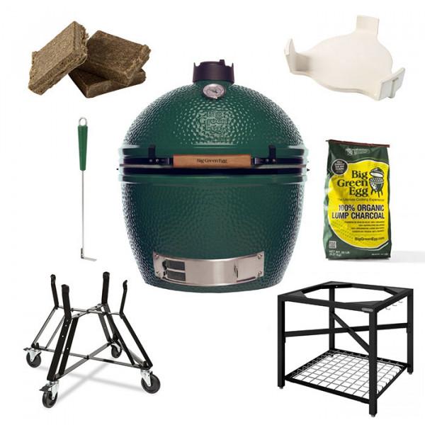 Barbecue kamado Big Green Egg XLarge - Pack Original + Table EGG Frame XL
