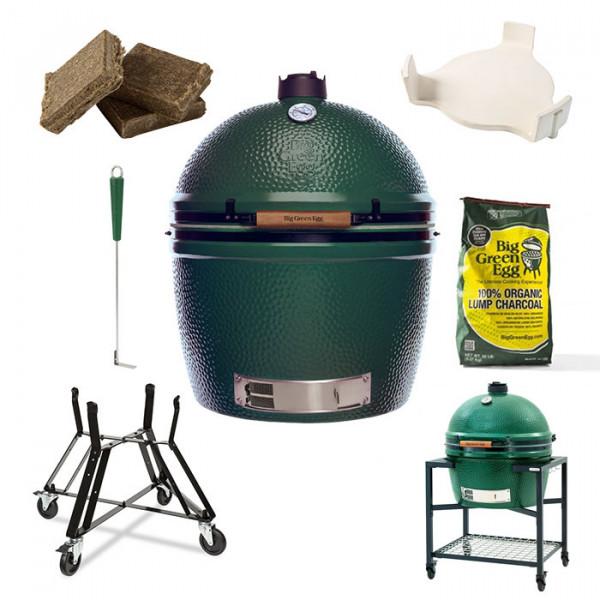 Barbecue kamado Big Green Egg XXL - Pack Original + Table EGG Frame XXL