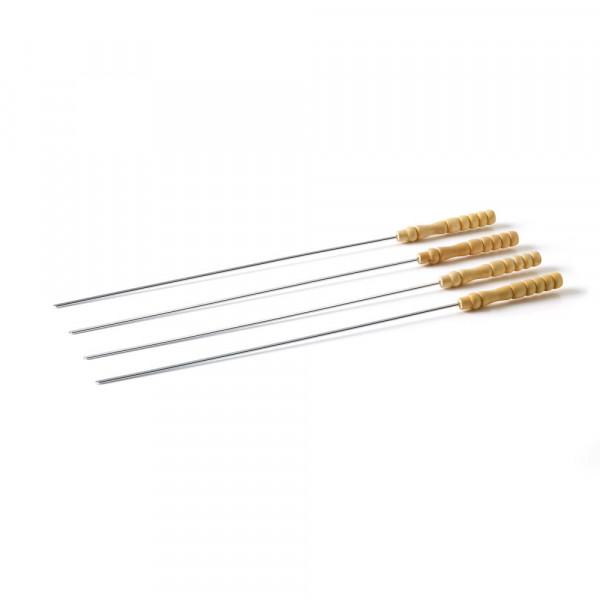 4 Pics à brochettes avec manche en bois Barbecook