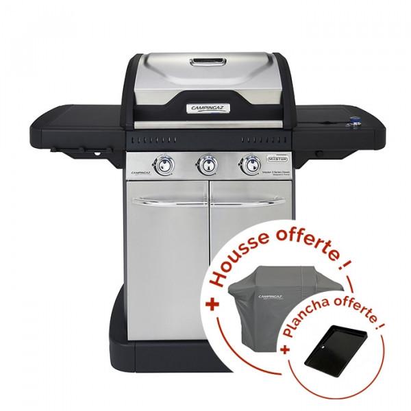 Pack Barbecue à gaz Campingaz Master 3 Series Classic + housse + plancha