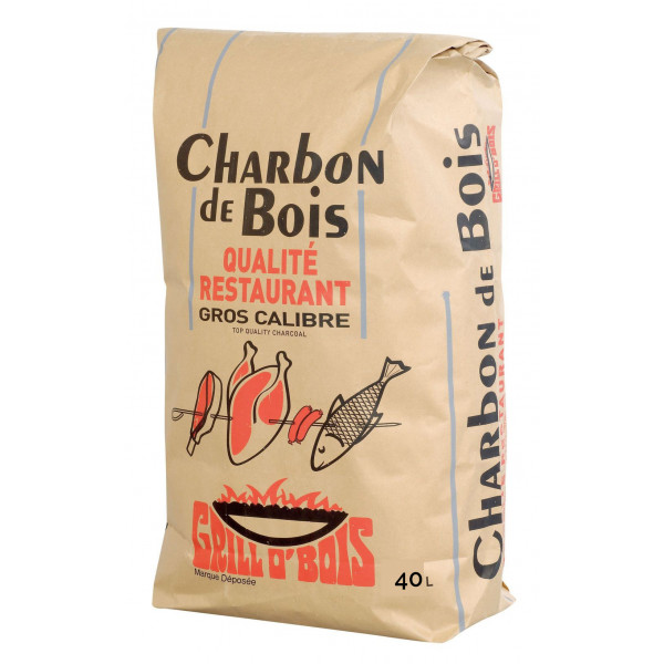 """Charbon de bois 40L """"Qualité Restaurant"""" Grill O'Bois"""