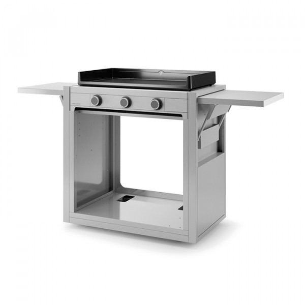 Chariot ouvert pour plancha Forge Adour MODERN 75 Inox
