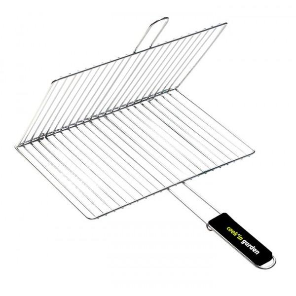 Grille de barbecue recoupable en acier 100 x 40 cm