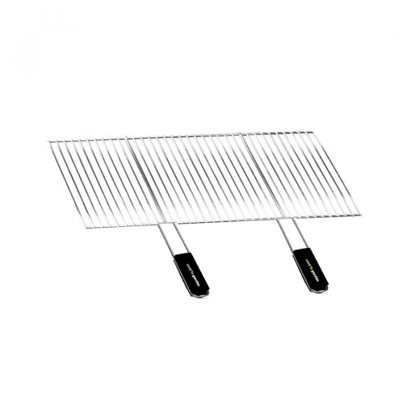 Grille de barbecue recoupable en acier 70 x 40 cm