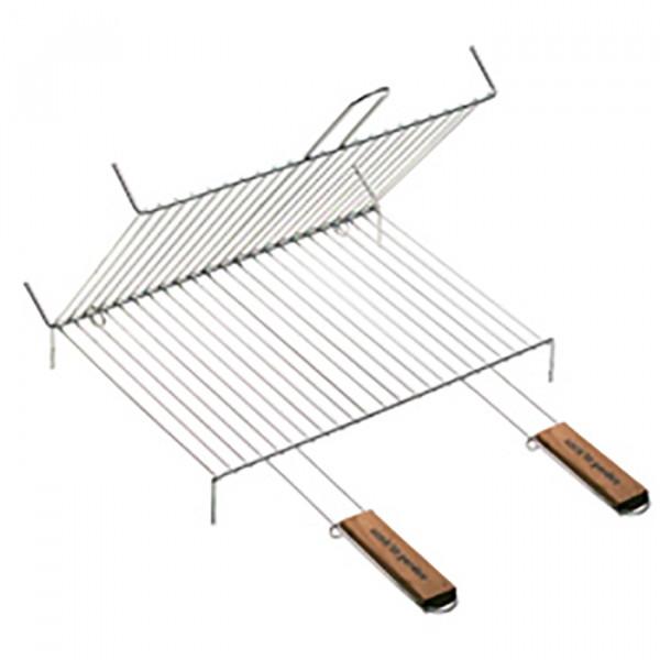 Grille de barbecue double à pieds Cook'in Garden