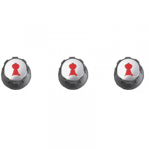 Lot de 3 boutons réglage gaz pour Spirit (boutons en façade)