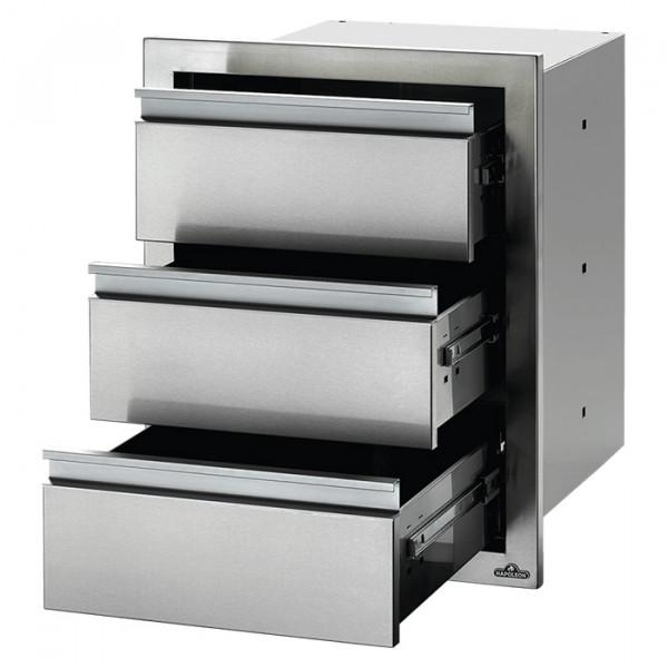 Module encastrable 3 tiroirs pour cuisine d'extérieur Napoleon