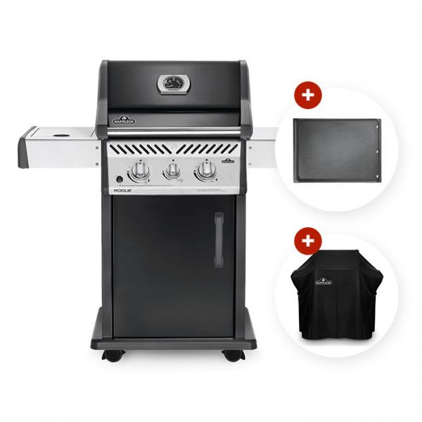Barbecue à gaz Napoleon ROGUE 365 SB avec réchaud latéral offert