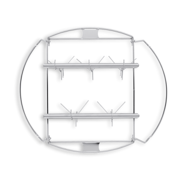 Crochet avec support pour poisson et saucisses pour fumoir Weber 47 cm