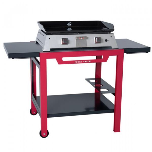 Table roulante bicolore Forge Adour pour planchas 450, 600 et 750