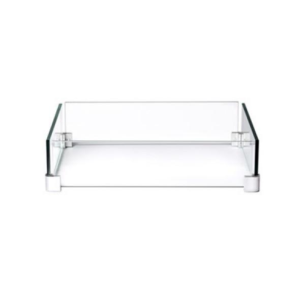 Paroi en verre pour table carrée patioflame Napoleon Hampton