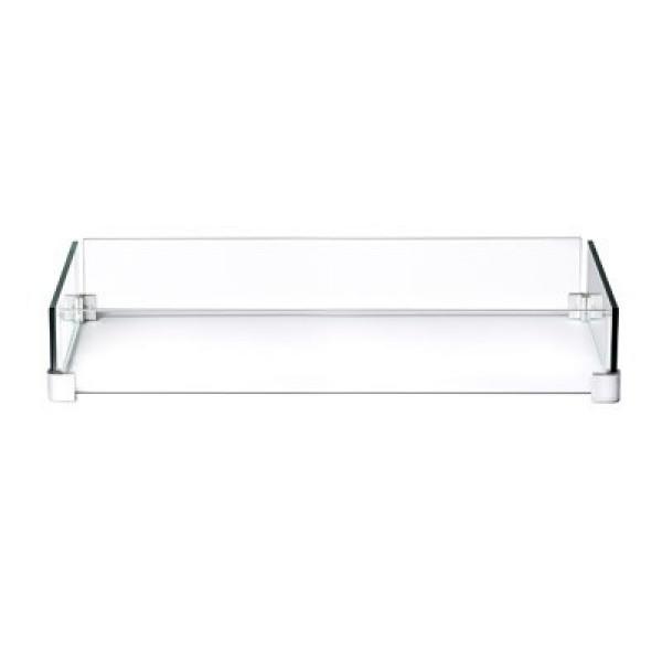 Paroi en verre pour table rectangulaire patioflame Napoleon Hampton