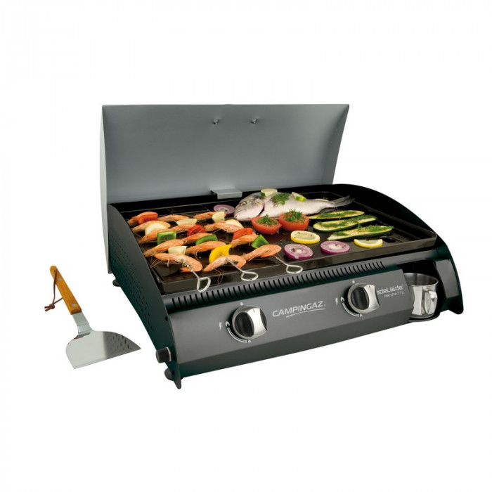 Barbecue ad la de plancha gaz campingaz woody 6000w for Housse de barbecue campingaz
