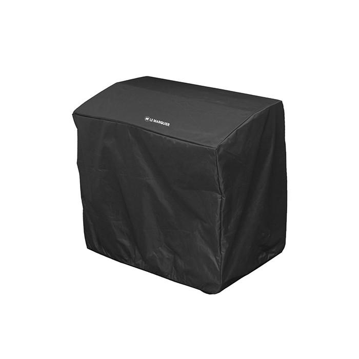 Housse noire PVC Le Marquier 120x60x100 pour planchas et barbecue