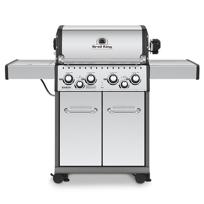 Barbecue à gaz 4 feux Broil King BARON 490 Argent