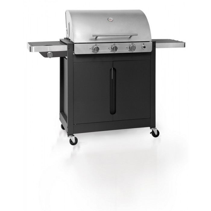 Barbecue gaz 3 br leurs r chaud lat ral barbecook brahma 4 2 inox - Cache bruleur barbecue gaz ...