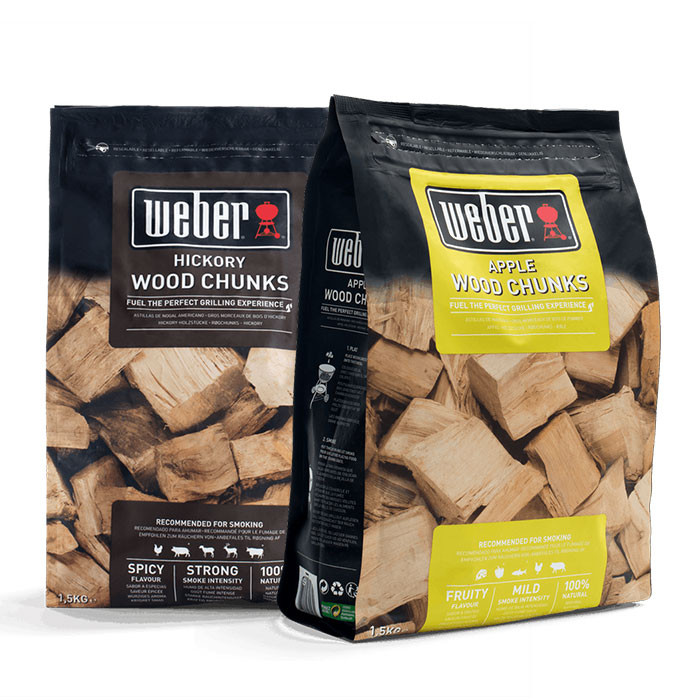 Bois de fumage Weber - Gros morceaux (2 saveurs au choix)