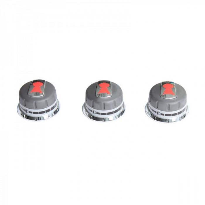 Lot de 3 boutons réglage gaz pour Weber Genesis (boutons en façade)