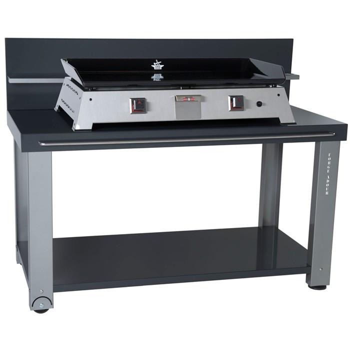 Table roulante pour planchas forge adour 750 raviday barbecue - Table roulante pour plancha ...