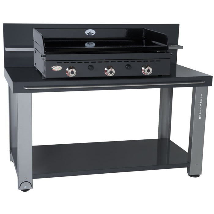 table roulante pour planchas forge adour 750 raviday barbecue