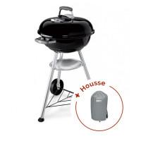 Barbecue à charbon Weber Compact Kettle 47 cm + Housse