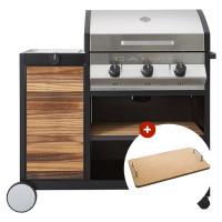 Barbecue à gaz Cadac MERIDIAN Woody 3 brûleurs