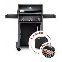 Pack Barbecue à gaz Weber Spirit Original E-310 Black + plancha + housse