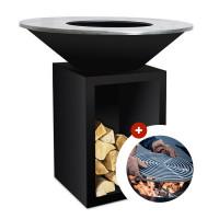 Brasero plancha OFYR Classic 100 Noir avec stockage