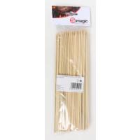 Lot de 100 pics à brochette 25 cm en bambou