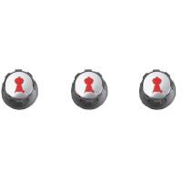 Lot de 3 boutons réglage gaz pour Weber Spirit (boutons en façade)