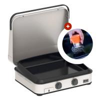 Plancha à gaz ENOSIGN 65 Inox avec capot