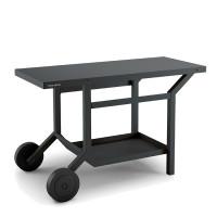 Table roulante en acier pour plancha Forge Adour - Gris anthracite mat