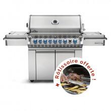 Barbecue à gaz Napoleon PRESTIGE PRO 665 Inox - Livré déjà monté