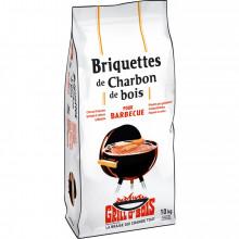 Briquettes de charbon de bois 10 kg Grill O'Bois